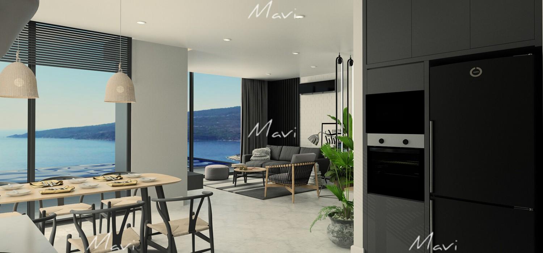 Four Bedroom Detached Villa New Development in Kalkan, Kalamar Villa for Sale, DVL791