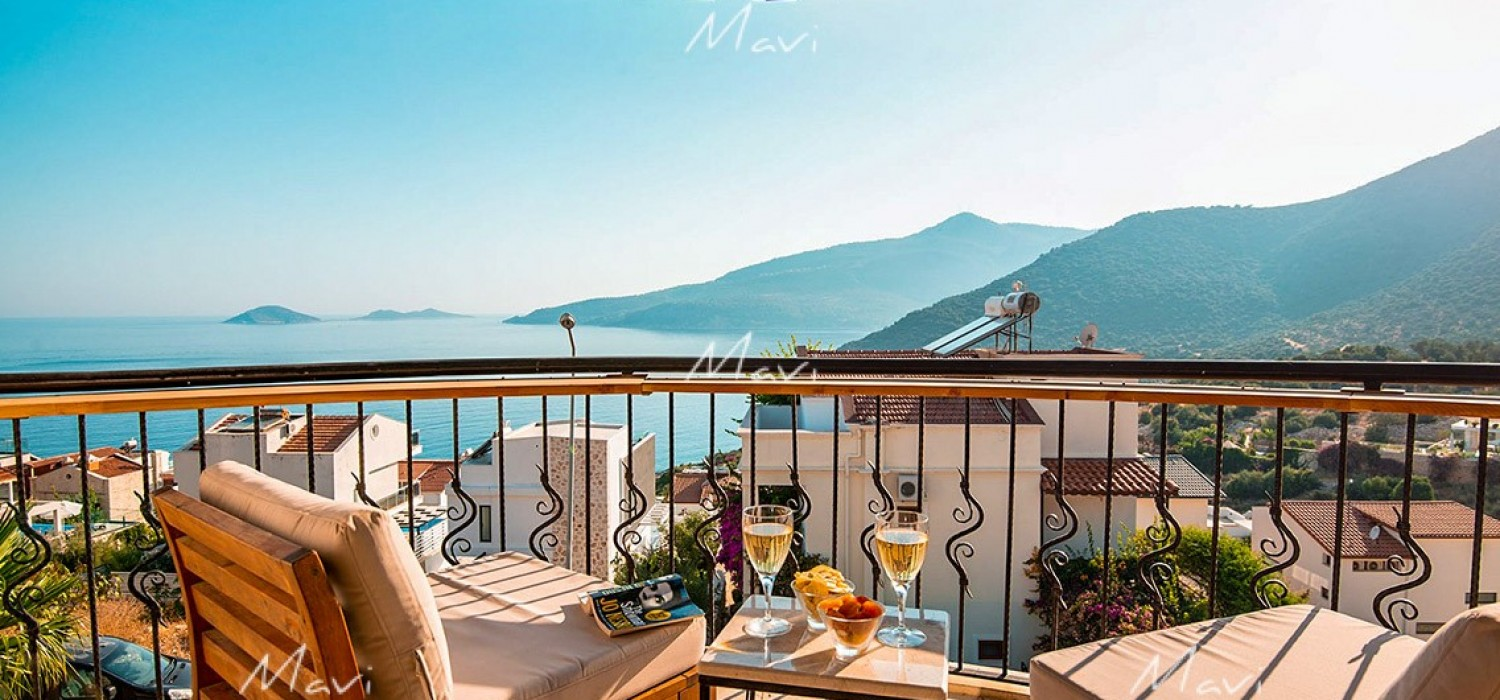 Two bedroom Luxury Apartment with unobstructed seaviews in Kalamar for Sale, Kalkan, DA749