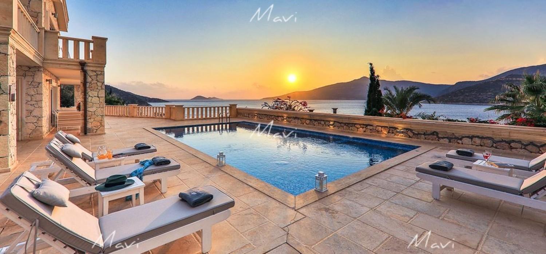 Luxury Kalkan Villa for Sale on the Waterfront, LV680