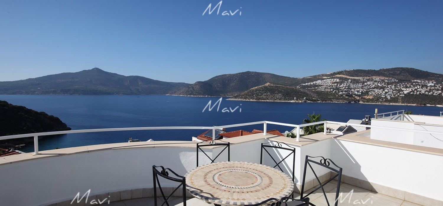 Detached Four Bedroom Villa with Seaviews in Kisla, Kalkan, DVL755