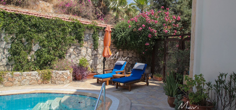 Mediterranean Style Three Bedroom Detached Villa for Sale in Ortaalan area, Kalkan, DVL751