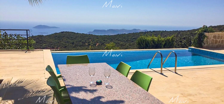 Modern Brandnew Three Bedroom Villa with Breathtaking Seaviews for Sale in Kas, DVL796