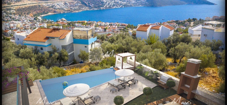 Four+ Bedroom New Development Luxury Villa For Sale in Kalkan,LV812