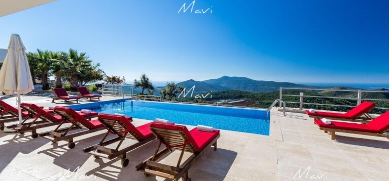 Modern Villa for Sale in İslamlar Village, Kalkan DVL701